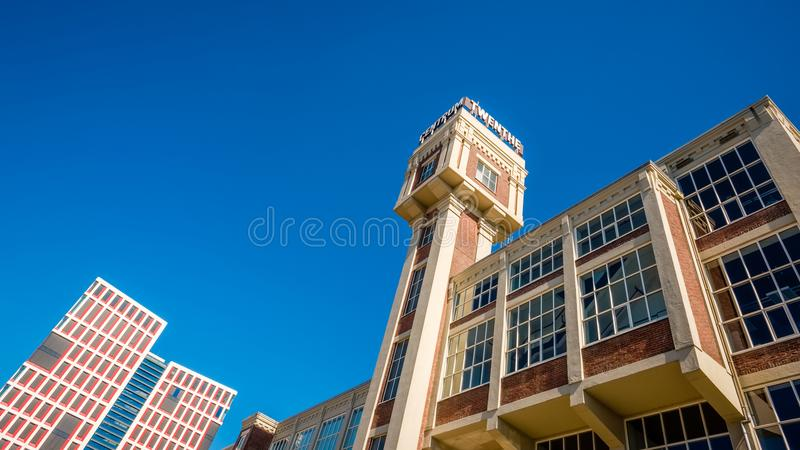 塔老蒸汽磨房变换了对企业和健康中心 图库摄影