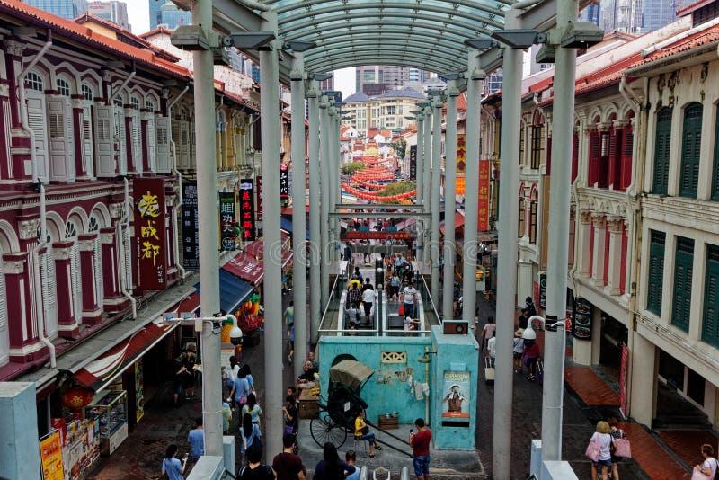 塔街道,新加坡,Sophouses 免版税库存照片