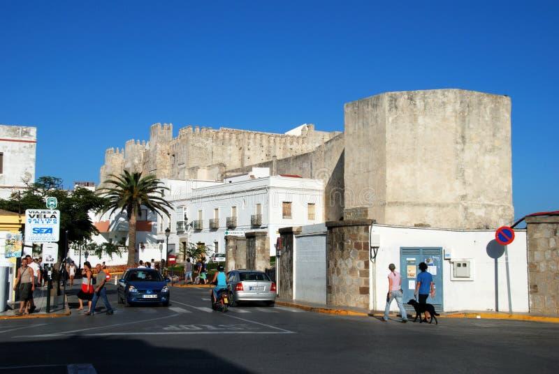 塔里法角城堡,西班牙 免版税库存照片