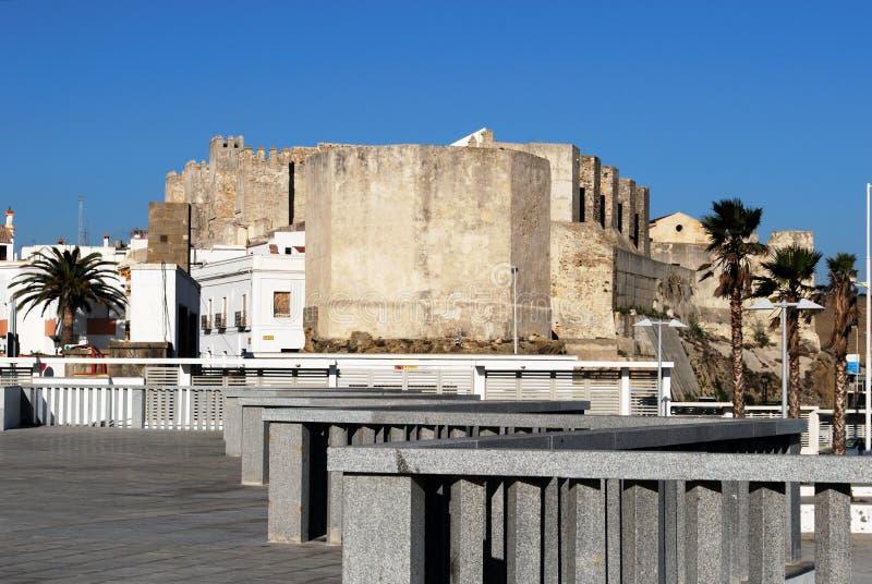 塔里法角城堡,西班牙 免版税库存图片