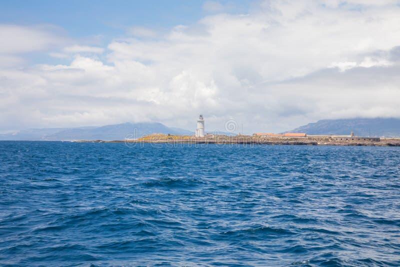 塔里法角镇灯塔从大西洋的 免版税库存照片