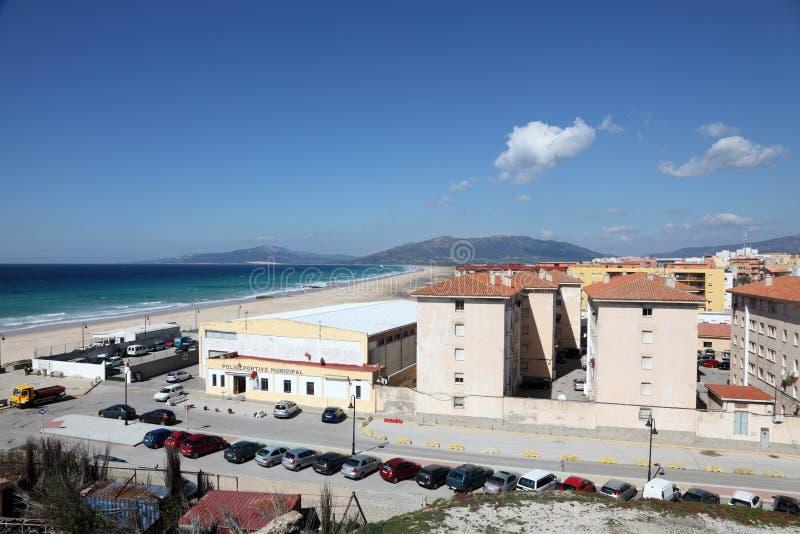塔里法角,卡迪士,西班牙省  免版税库存图片