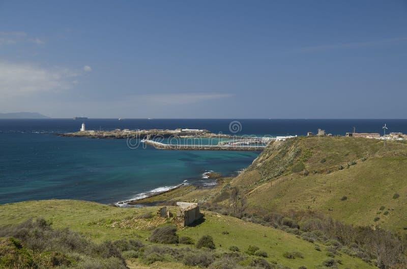 塔里法角,安大路西亚,西班牙的海岸的镇 免版税库存图片