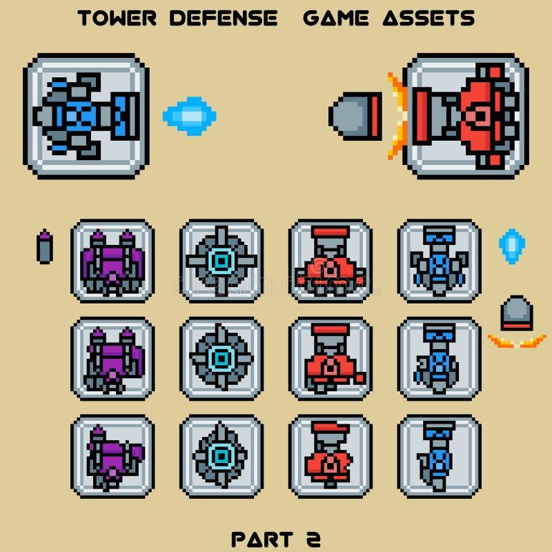 塔防御比赛财产第2部分 库存例证