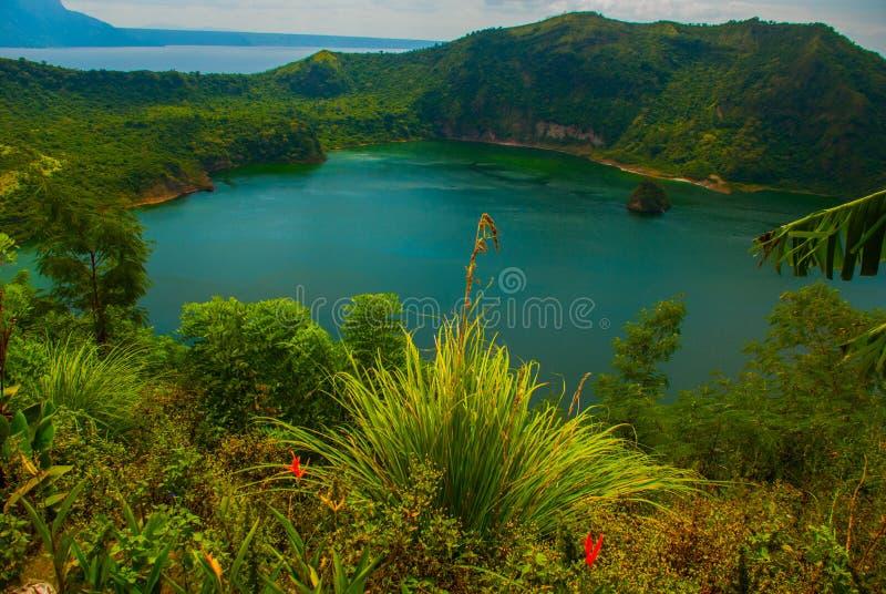 塔阿尔火山在Tagaytay,菲律宾 免版税图库摄影