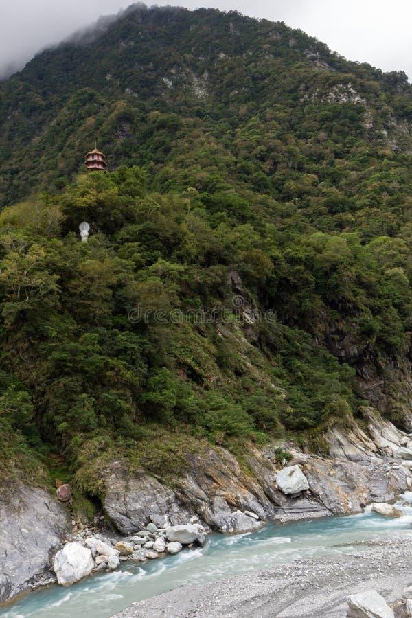 塔高在一座山在Taroko 库存图片