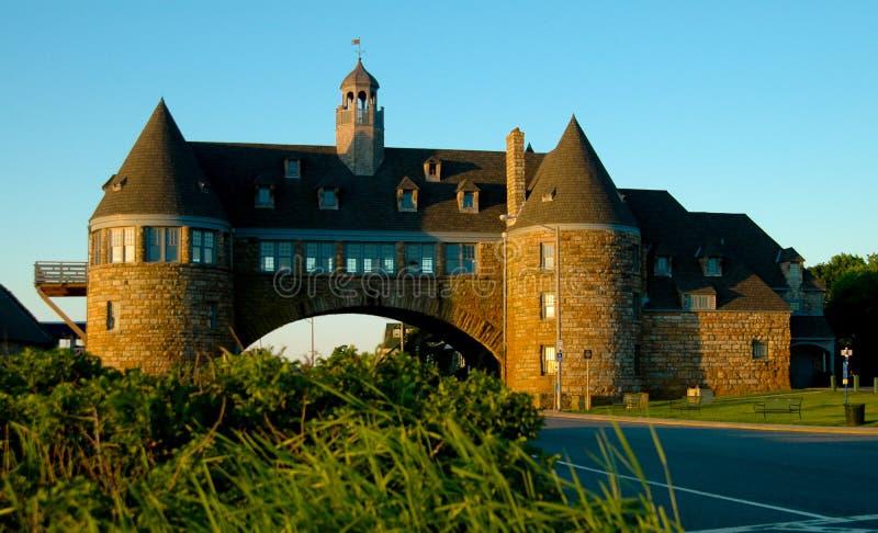 塔,在海洋路在Narragansett,罗德岛州 免版税库存图片
