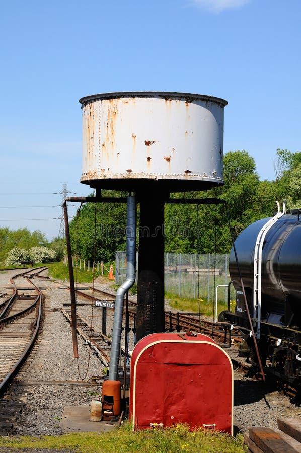 水塔, Brownhills西部火车站 免版税库存图片