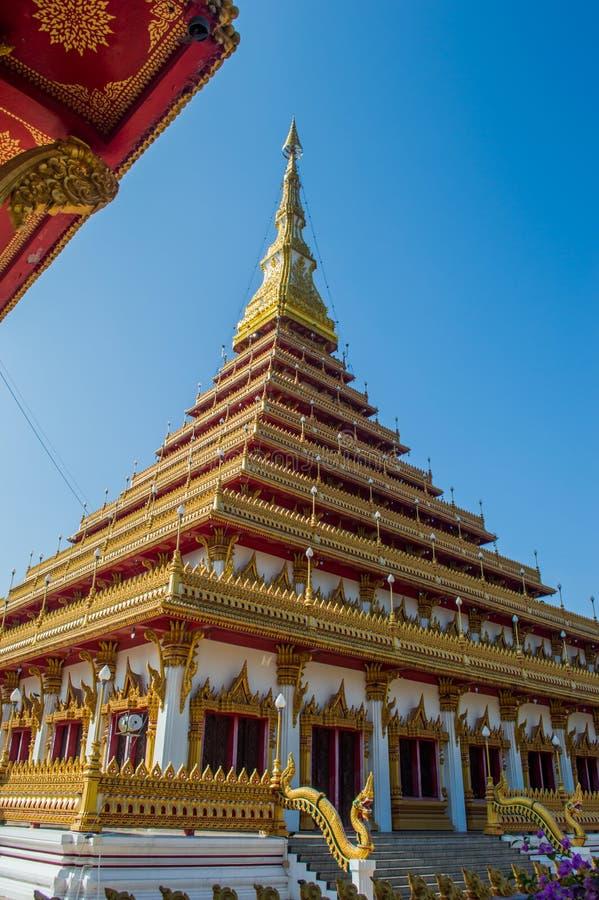 塔Wat Nongwang, Khon Kaen泰国 库存图片