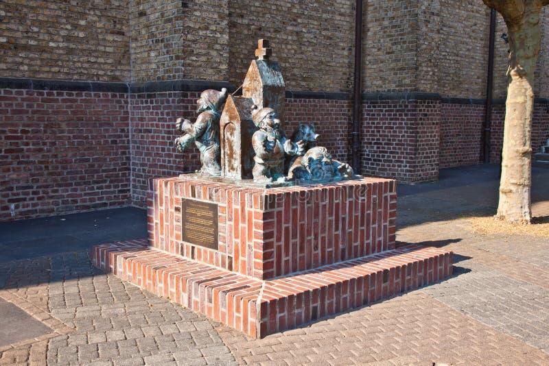 塞克斯Maenekes的雕塑 库存照片