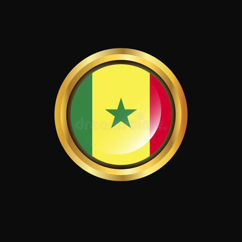 塞内加尔旗子金钮扣 库存例证