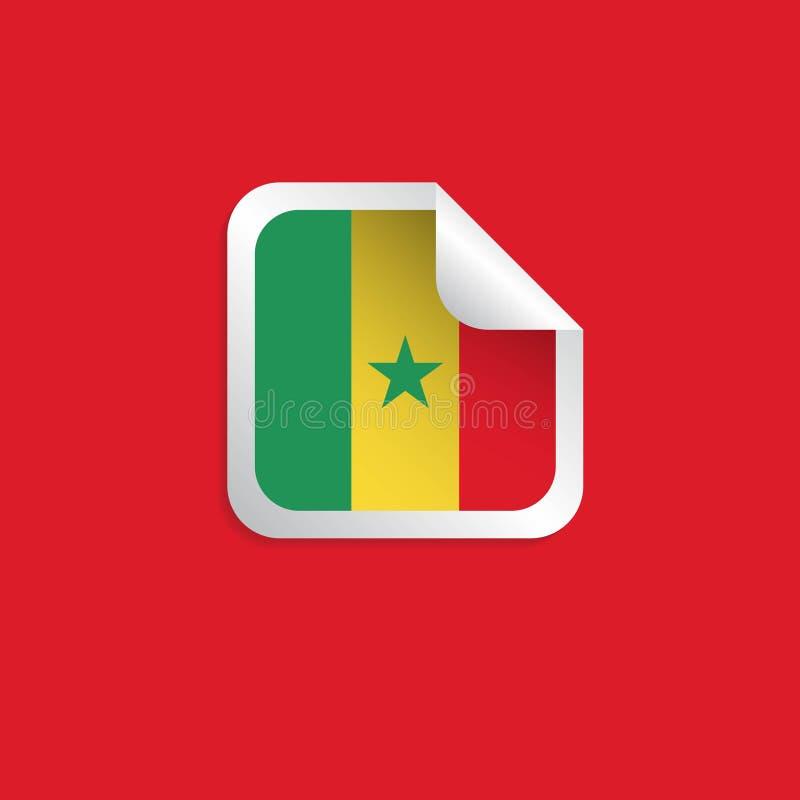 塞内加尔标签旗子导航设计例证 库存例证