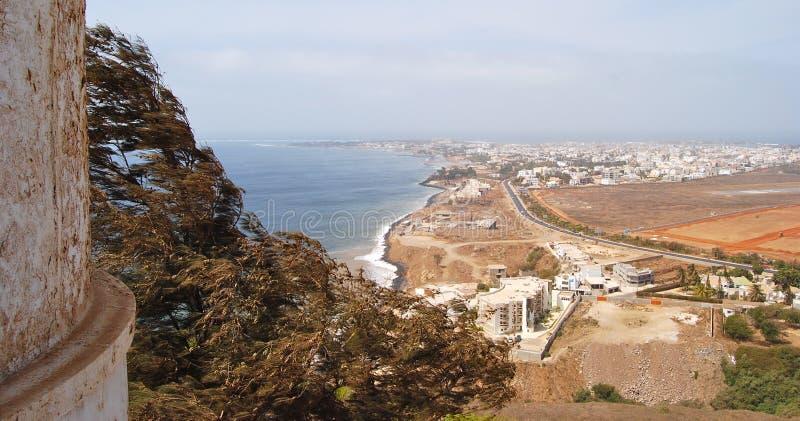 塞内加尔海岸线,达喀尔 免版税库存图片