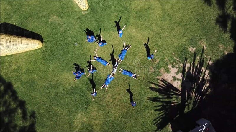 塞内加尔舞蹈鸟瞰图在智利 库存图片