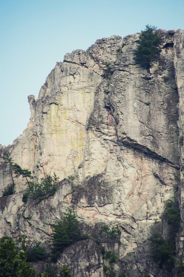 塞内卡岩石在西维吉尼亚 免版税图库摄影