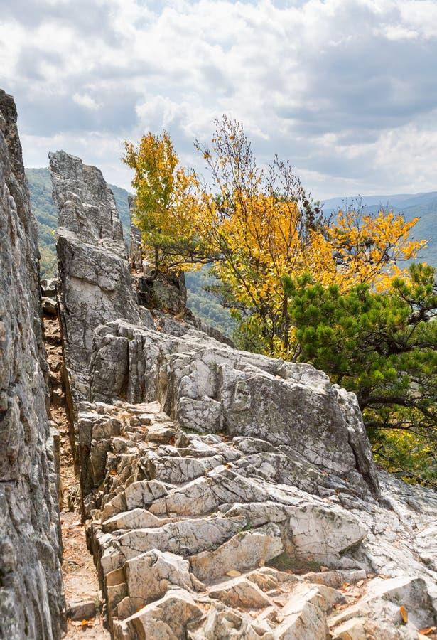 塞内卡岩石在西维吉尼亚 库存图片
