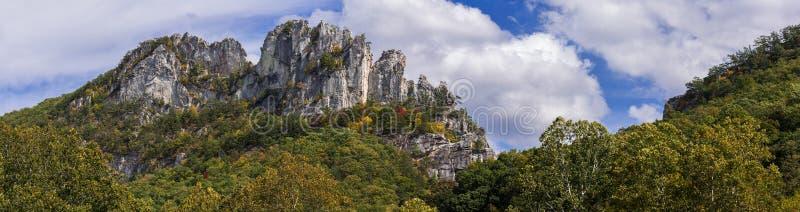塞内卡岩石在西维吉尼亚 库存照片