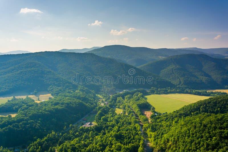 从塞内卡岩石的看法, Monongahela国家森林,西部维尔京 图库摄影