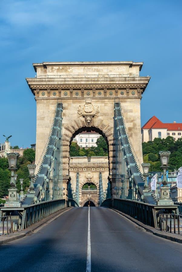 塞切尼塞切尼链桥垂直的景色 库存照片