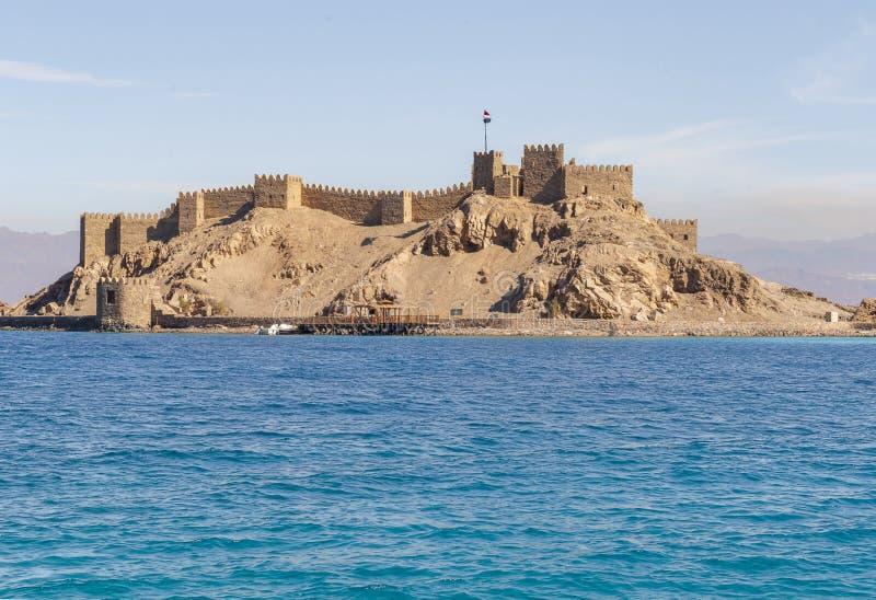 塞古El在Farun海岛上的声浪城堡风景视图  库存图片