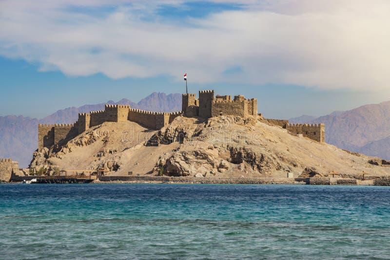 塞古El在Farun海岛上的声浪城堡 库存图片