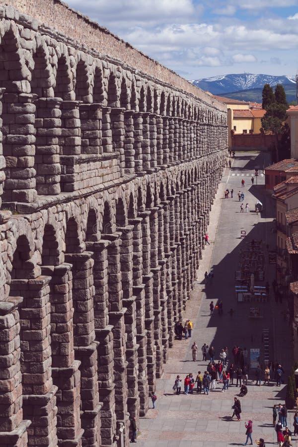 塞哥维亚输水道,罗马历史集合 免版税库存图片