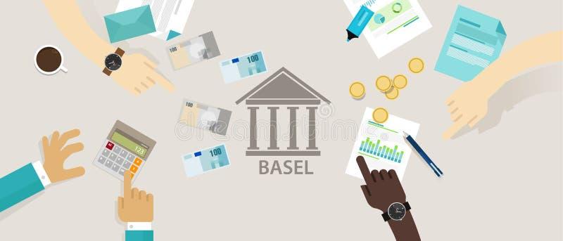 巴塞尔在银行监督国际管理框架的协议委员会银行的 库存例证