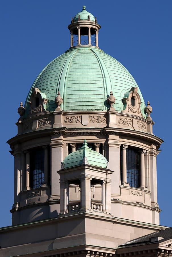 塞尔维亚人议会塔楼  免版税图库摄影