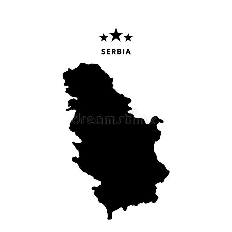 塞尔维亚地图 也corel凹道例证向量 库存例证