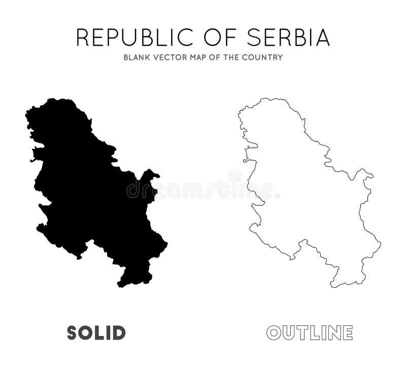 塞尔维亚地图 皇族释放例证