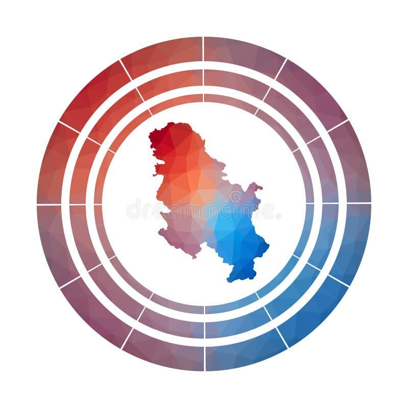 塞尔维亚徽章 皇族释放例证