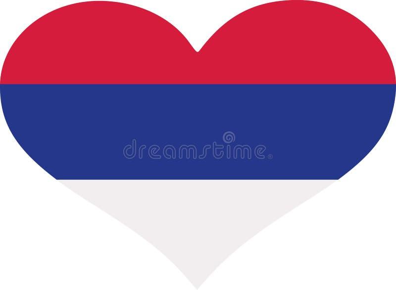 塞尔维亚旗子心脏 皇族释放例证