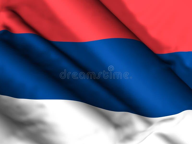 塞尔维亚旗子背景 库存例证