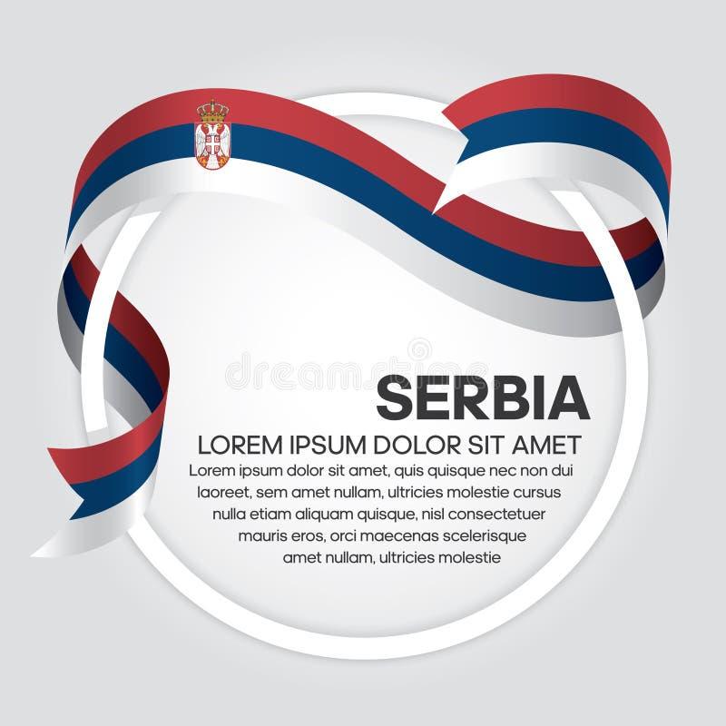 塞尔维亚旗子背景 皇族释放例证