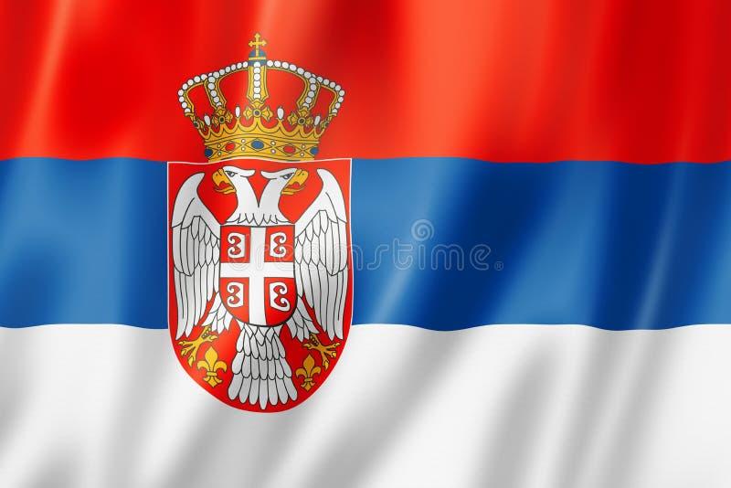 塞尔维亚旗子 向量例证