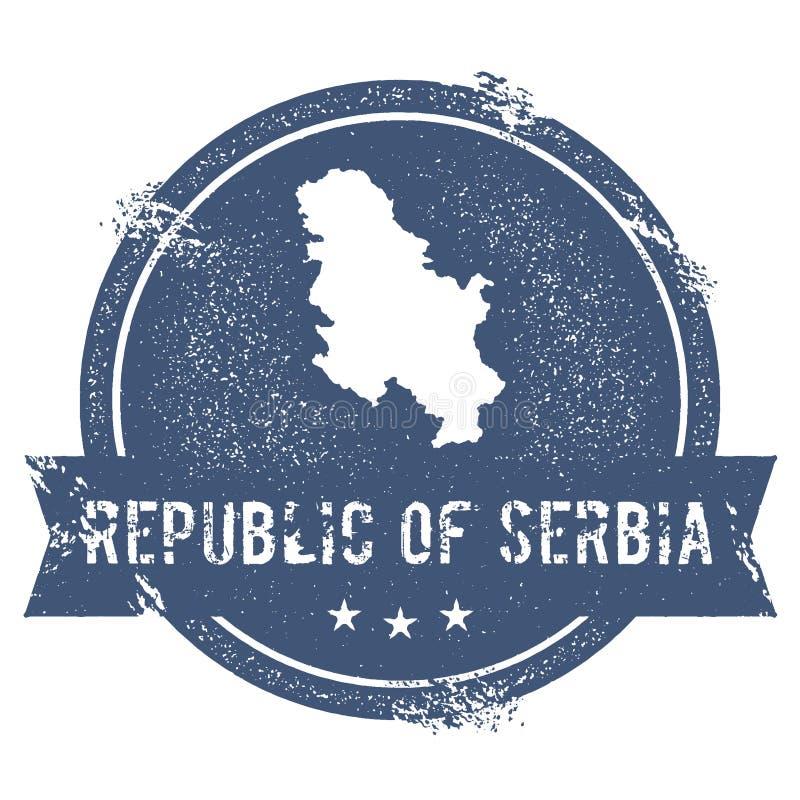 塞尔维亚标记 向量例证