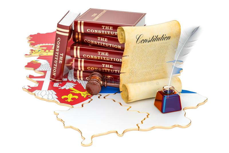 塞尔维亚概念, 3D的宪法翻译 皇族释放例证