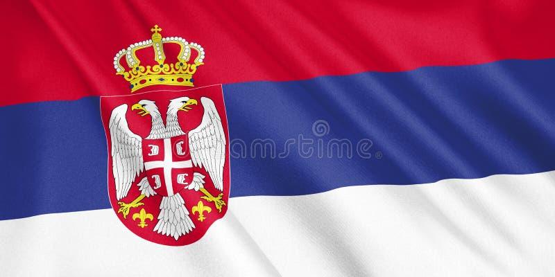 塞尔维亚沙文主义情绪与风 库存例证