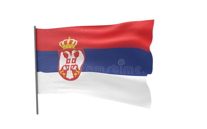 塞尔维亚的旗子 皇族释放例证
