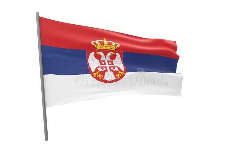 塞尔维亚的旗子 向量例证