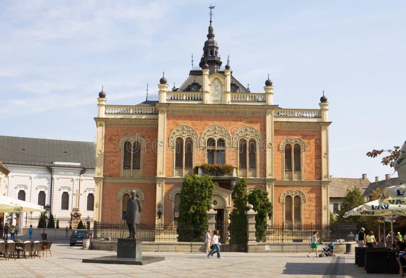 塞尔维亚诺维萨德市的弗拉迪坎斯基大主教宫 免版税库存照片