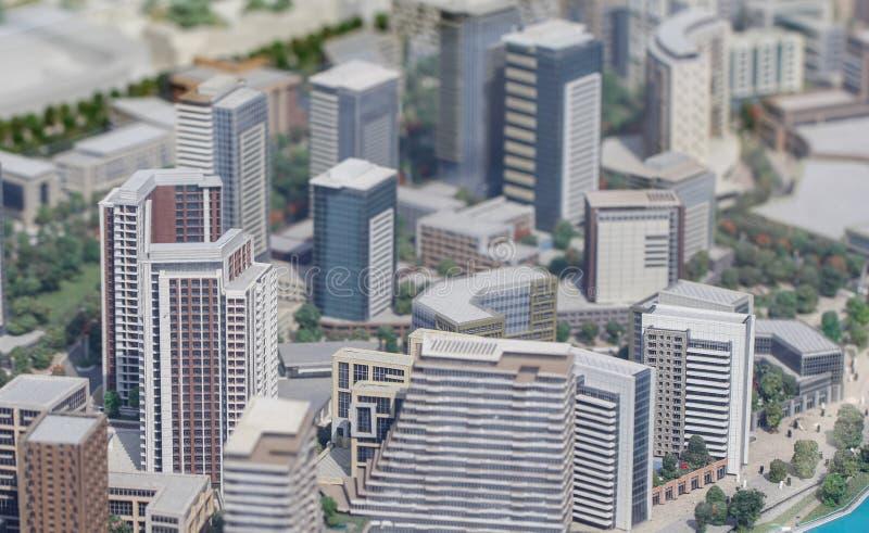塞尔维亚;贝尔格莱德;2018年3月24日;大厦微型模型; 免版税库存图片