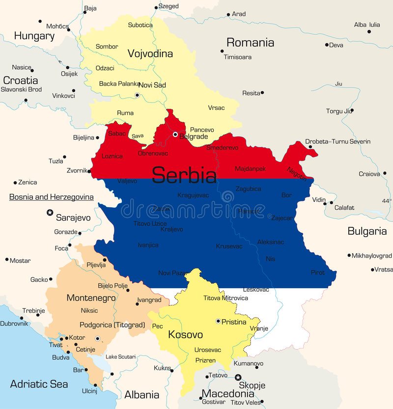 塞尔维亚 向量例证