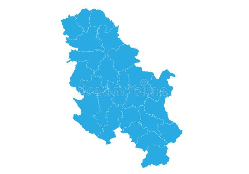 塞尔维亚nokosovo的地图 高详细的传染媒介地图-塞尔维亚nokosovo图片