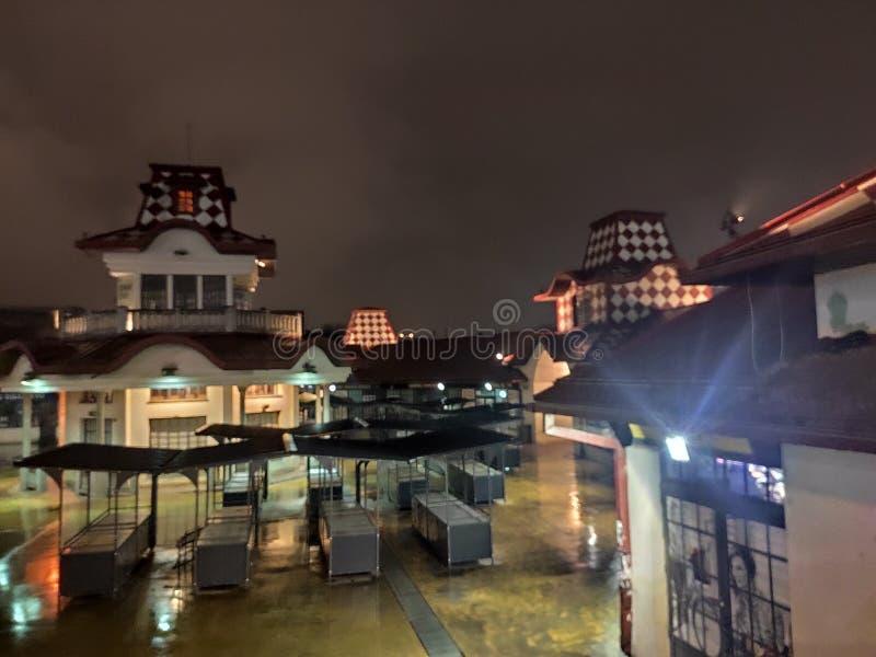 塞尔维亚Zeleni Venac夜景 库存照片
