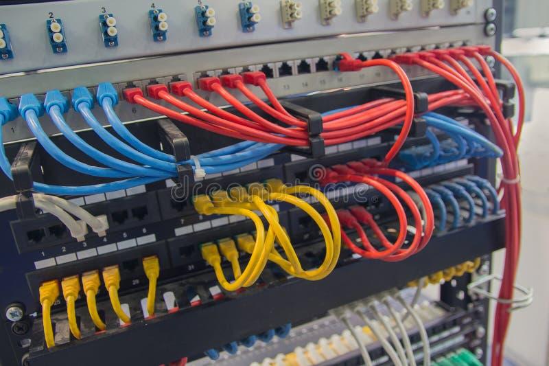 塞尔维特多彩多姿网络的缆绳 库存图片