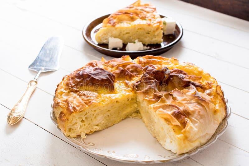 塞尔维亚乳酪饼 免版税库存照片