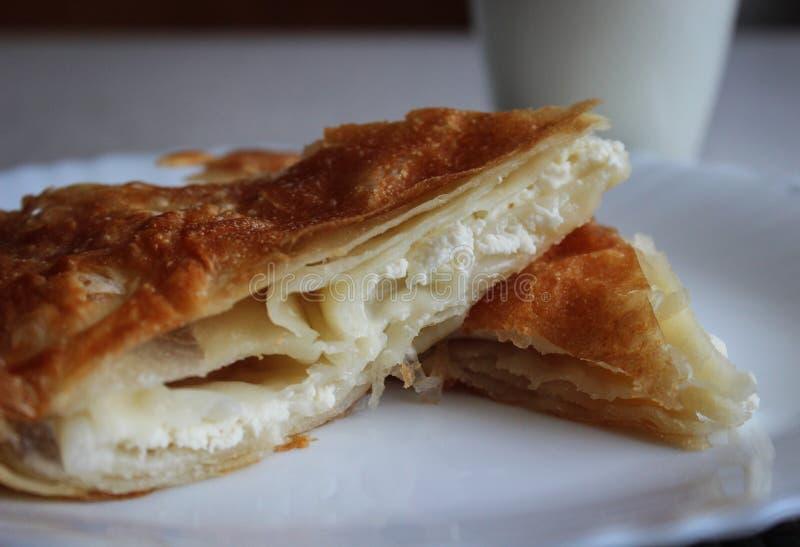 塞尔维亚传统早餐 库存照片
