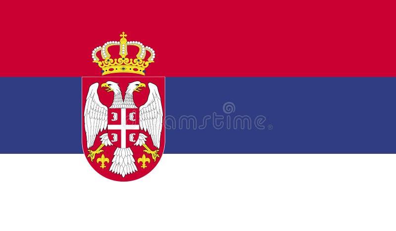 塞尔维亚旗子图象 向量例证