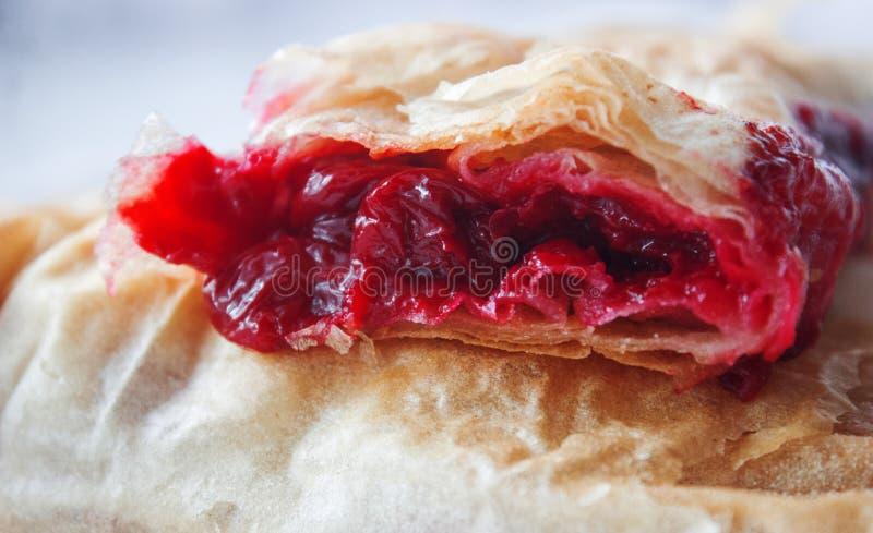 塞尔维亚樱桃饼 库存照片